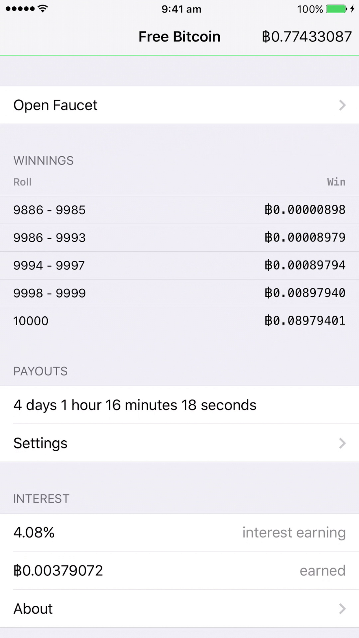 Lottery system, win over 1.5 BTC, 10 winners selected each week