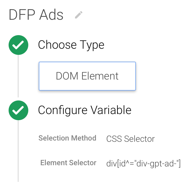 DFP ads variable in GTM