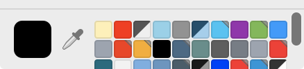 Colour picker swatches now supports scrolling