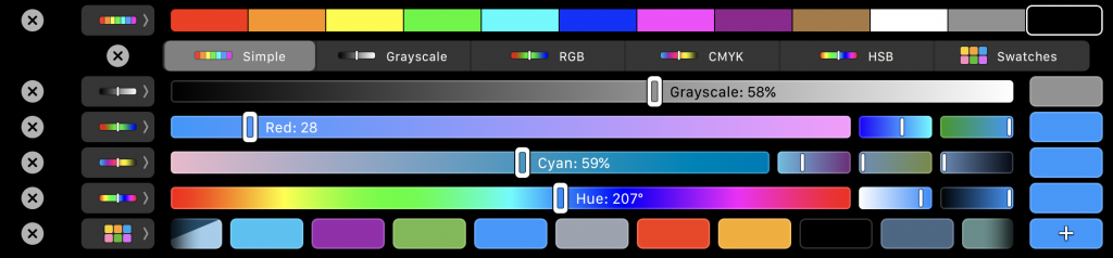 All new colour picker in the Touch Bar in macOS High Sierra