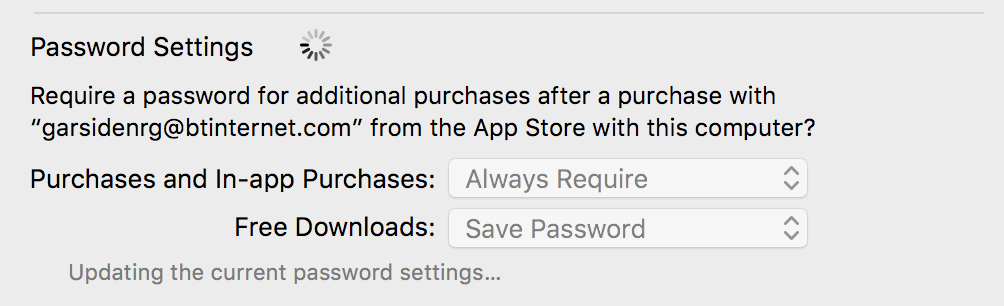 Mac App Store Password Setting Remember Password
