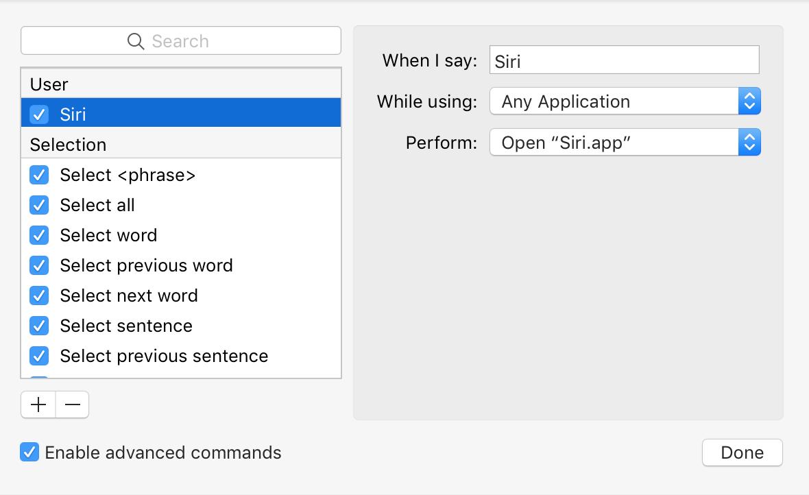 When I say Siri open Finder items Siri.app in Sierra with Hey Siri