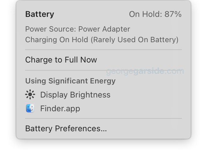 Battery charging On Hold