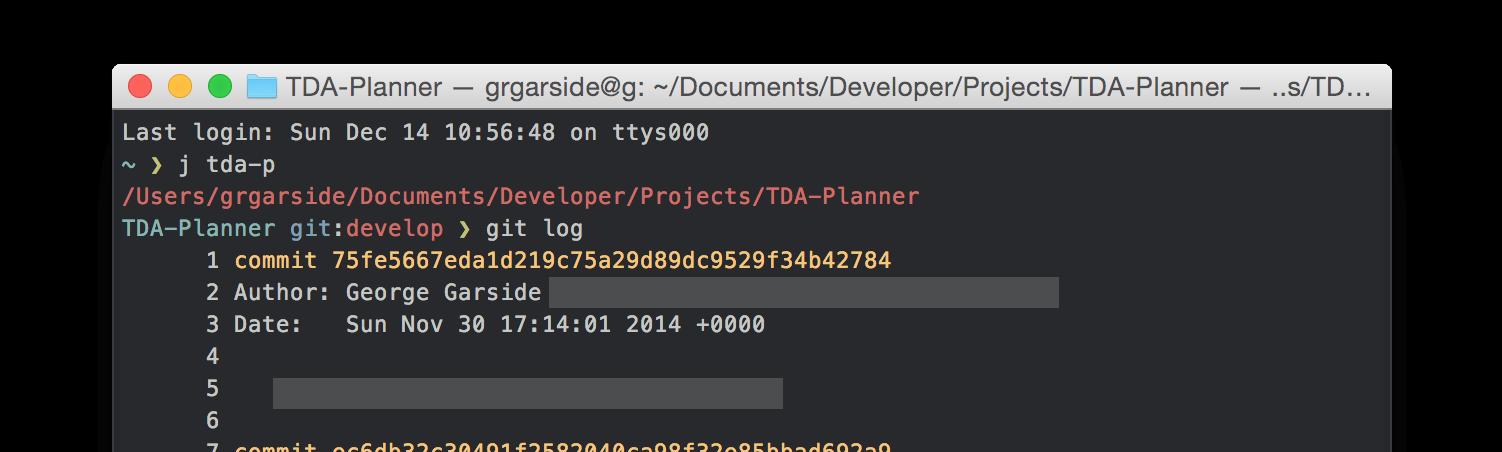 OS X Terminal Zsh Setup - George Garside