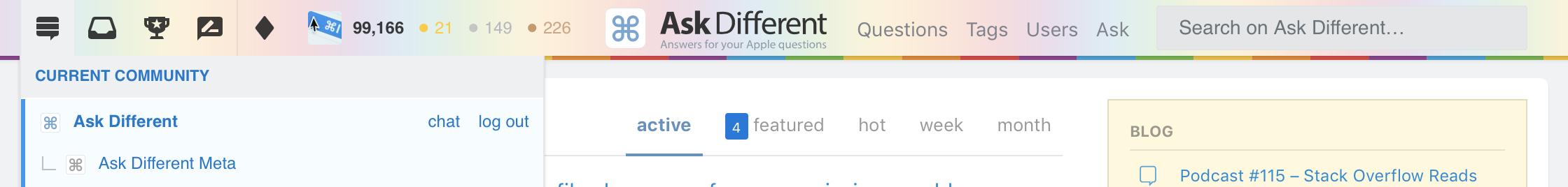 New nav bar better stylesheet for Stack Exchange