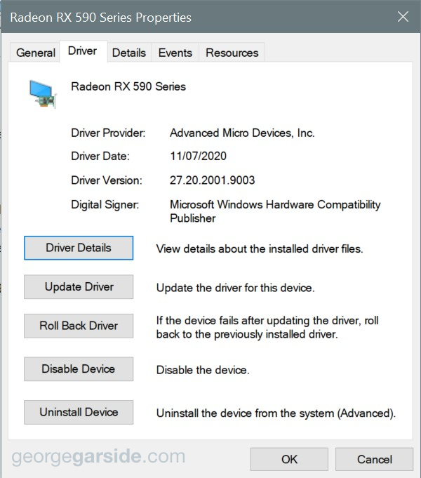 AMD display adapter drivers in Device Manager