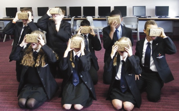 TDA students experimenting with Google Expeditions