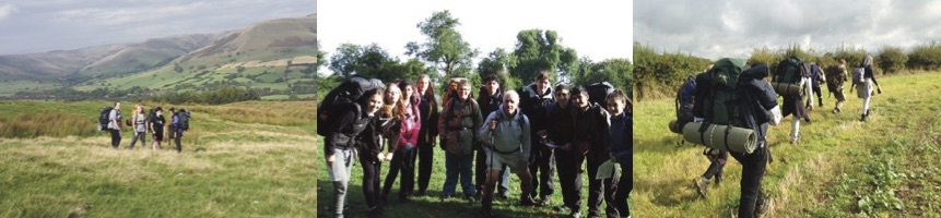 Students on expedition
