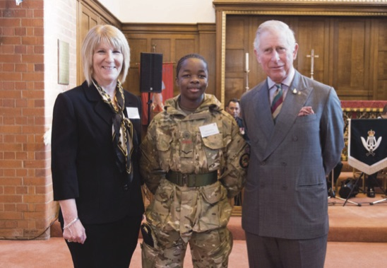 Lion Kheswa, Y10, awarded Principals Award and met Prince Charles